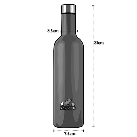 Dimensions For Chilly Moose Wellington Bottle