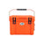 Front view of the 25L Chilly Ice Box closed in colour Blaze Orange on a white background.