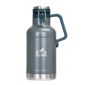 Front view of the 64oz Forest Big Pine Canteen on a white background.