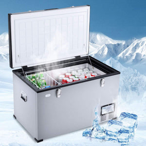 Big Buck - 2.6 cu.ft / 75L Portable Fridge-Freezer filled with pop cans