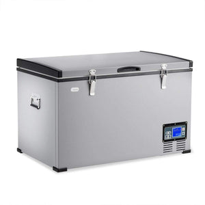 Front angled view of the Chilly Moose Big Buck - 2.6 cu.ft / 75L Portable Fridge-Freezer