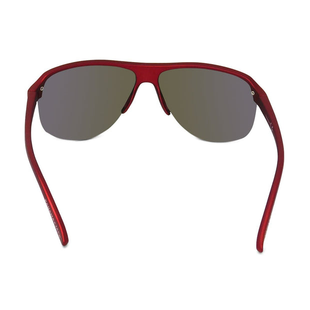Kids Semi-Rimless Shield Mirror Sunglasses