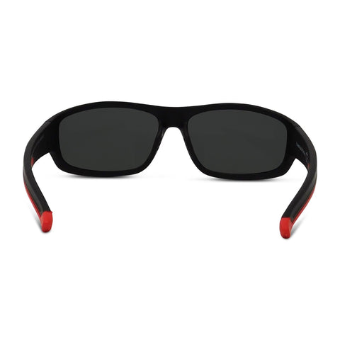 Polarized Matte Sport Wrap Sunglasses