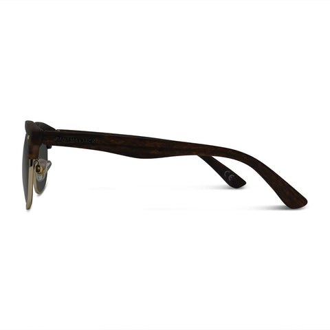 Classic Faux Wood Grain Club Sunglasses