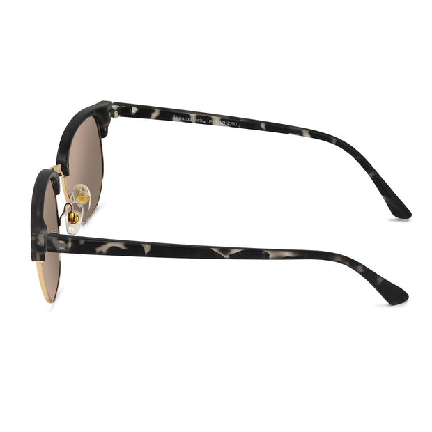 Premium Polarized Gold Mirror Club Sunglasses