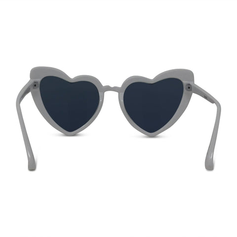 Shiny Heart-Shaped Surf Sunglasses