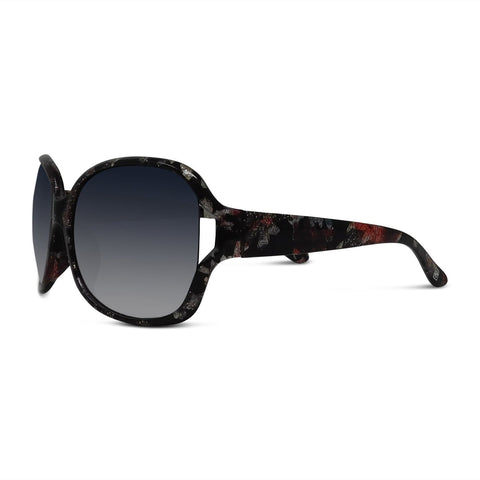 Glitter Floral Gradient Resort Sunglasses