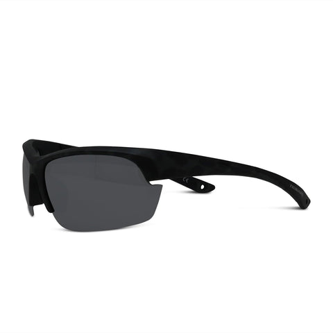 Polarized Floating Semi-Rimless Camo Blade Sunglasses
