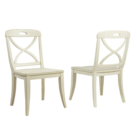 Millbrook Dining Buttermilk Finish X-Back Side Chair (Set of 2)