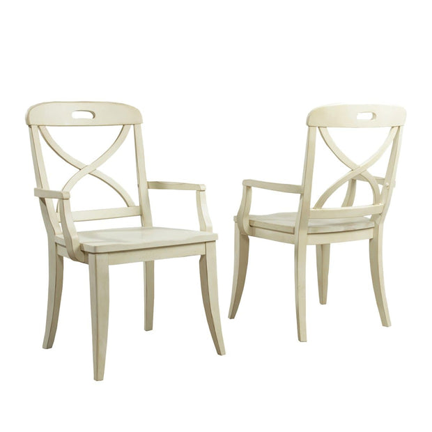 Millbrook Dining Buttermilk Finish X-Back Arm Chair (Set of 2)