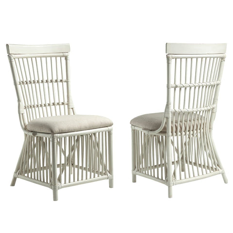 Millbrook Dining White Rattan Chairs (Set of 2)