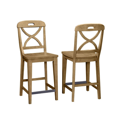 Millbrook Dining Soft Sand Finish Counter Height Stool (Set of 2)