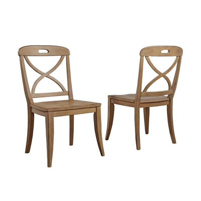 Millbrook Dining Soft Sand Finish X-Back Side Chair (Set of 2)