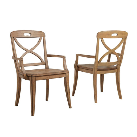 Millbrook Dining Soft Sand Finish X-Back Arm Chair (Set of 2)