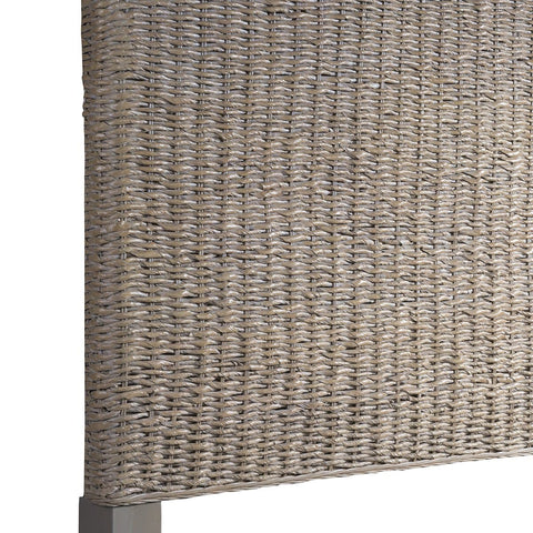 Driftwood Bedroom Grey Woven Queen Headboard