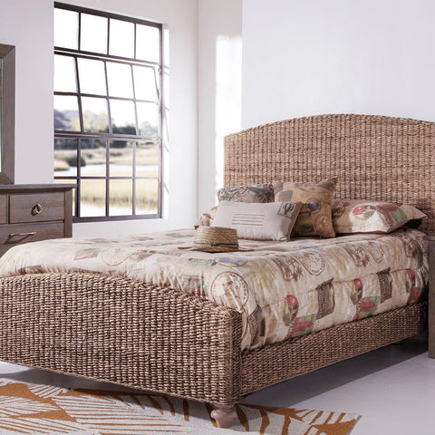 Driftwood Bedroom Grey Woven King Bed