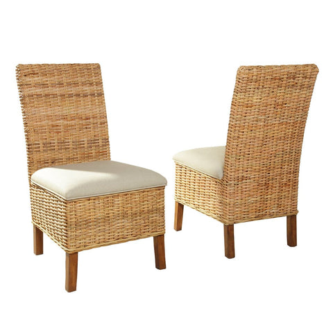 Driftwood Bedroom Woven Side Chairs (Set of 2)