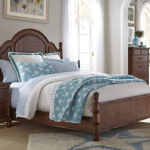 Isle of Palms Bedroom Brown King Panel Bed