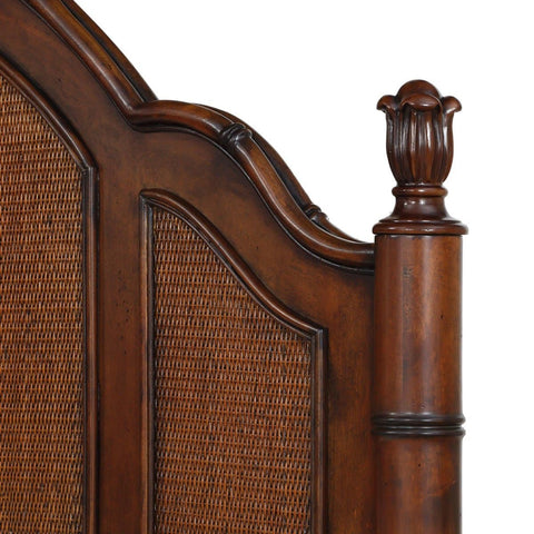 Isle of Palms Bedroom Brown King Panel Bed Headboard