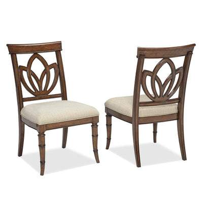 Isle of Palms Dining Brown Square Back Side Chair (Set of 2)
