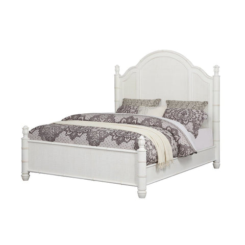 Isle of Palms Bedroom Antique White Queen Panel Bed
