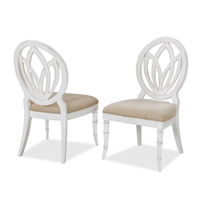 Isle of Palms Dining Antique White Round Back Side Chair (Set of 2)
