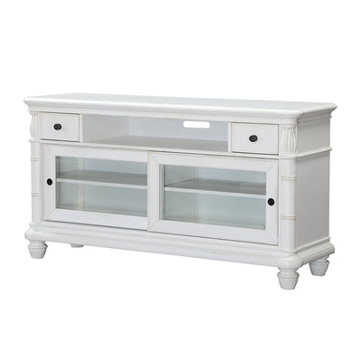 Isle of Palms Occasional Antique White Entertainment Console Table