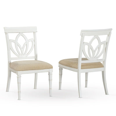 Isle of Palms Dining Antique White Square Back Side Chair (Set of 2)