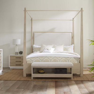 Boca Grande Bedroom King Upholstered Canopy Bed