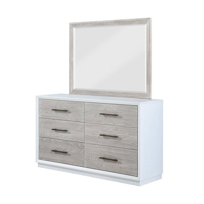 Boca Grande Bedroom Six Drawer Dresser and Mirror Combo