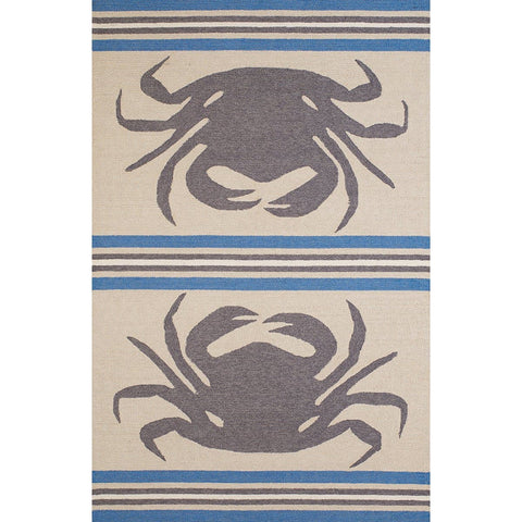 Signature Crab Shack Grey Indoor & Outdoor Area Rug