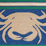 Signature Crab Shack Taupe Indoor & Outdoor Area Rug