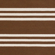 Signature Parallel Chocolate Indoor & Outdoor Area Rug