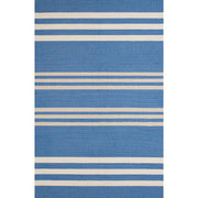 Signature Parallel Blue Indoor & Outdoor Area Rug