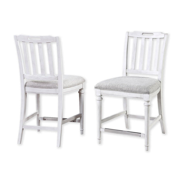 Sonoma Armless Counter Height Slat Back Stool (Set of 2)