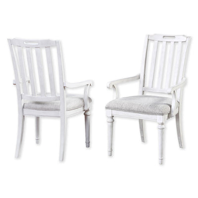 Sonoma Slat Back Arm Chair (Set of 2)