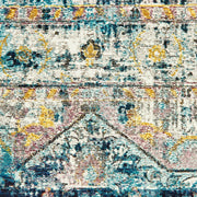 Bohemian Antigua Aqua Indoor Area Rug