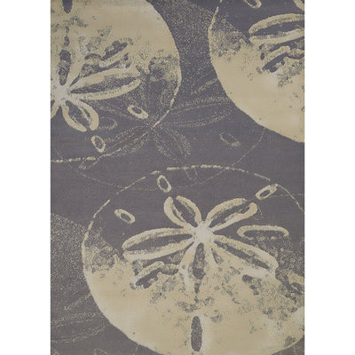 Island Breeze Sand Dollar Cove Charcoal Indoor Area Rug