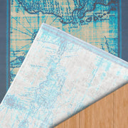 Island Breeze Explorer Aqua Indoor Area Rug