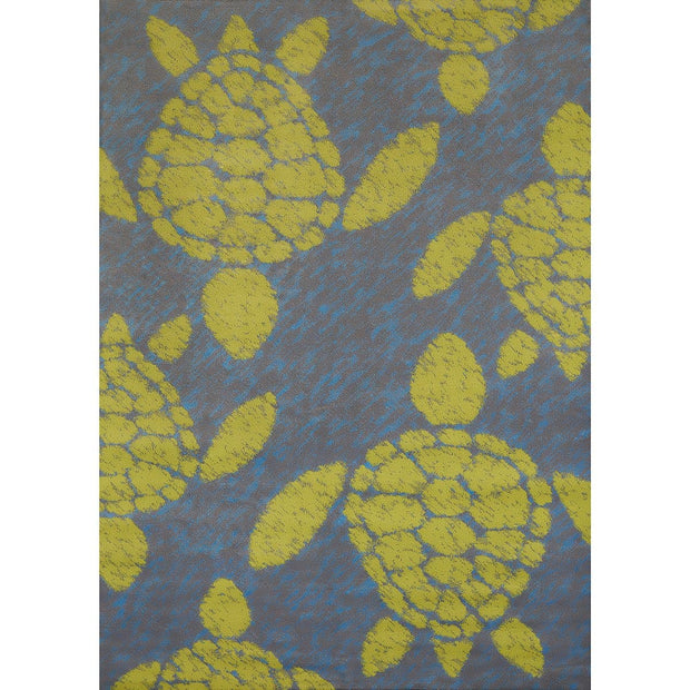 Island Breeze Sea Turtle Lime Indoor Area Rug