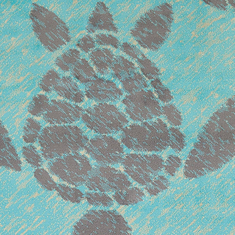 Island Breeze Sea Turtle Blue Indoor Area Rug