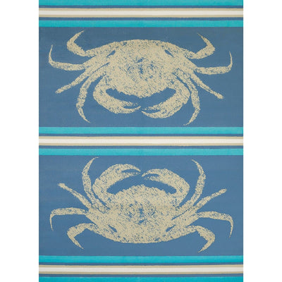 Island Breeze Stone Crab Blue Indoor Area Rug