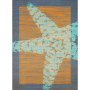 Island Breeze Star Fish Border Peach Indoor Area Rug