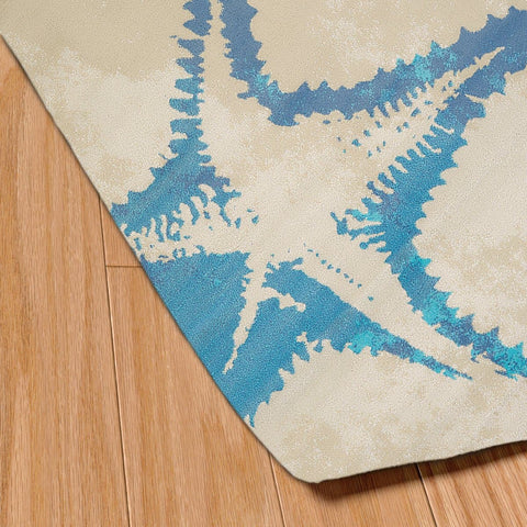 Island Breeze Sea Life Natural Indoor Area Rug