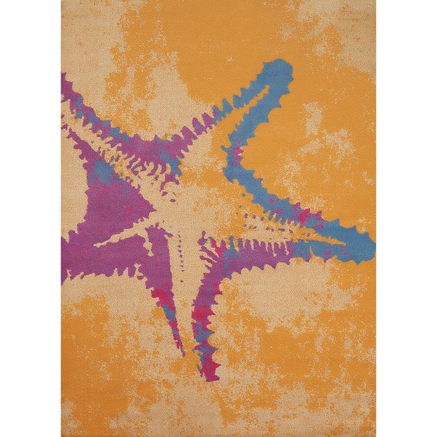 Island Breeze Sea Life Peach Indoor Area Rug
