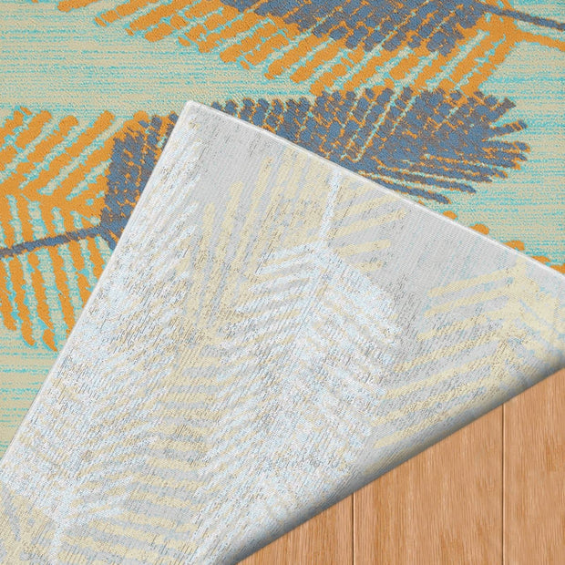 Island Breeze Breezy Days Blue Indoor Area Rug