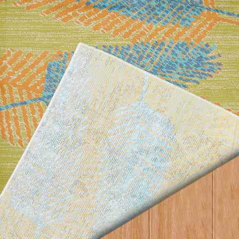Island Breeze Breezy Days Aqua Indoor Area Rug