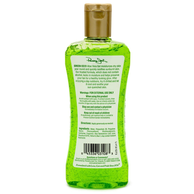 Green Ice Aloe Vera Gel After Sun Skin Care Panama Jack