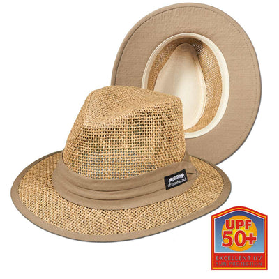 Matte Seagrass Safari Hat