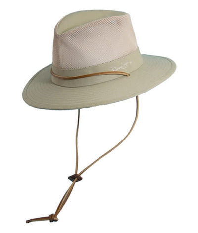 Leather Chin Cord Mesh Safari Sun Hat